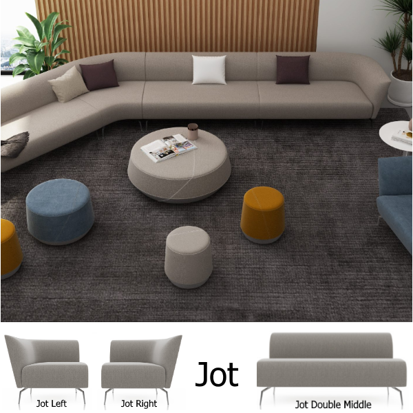 Jot Seating for Lobbies and Reception Areas