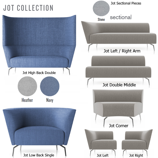 The Jot Seating Collection - Friant Reception Seating - Modern Lounge Seating