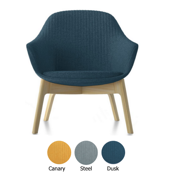 Friant Lounge Chair in Dusk Fabric - eating
