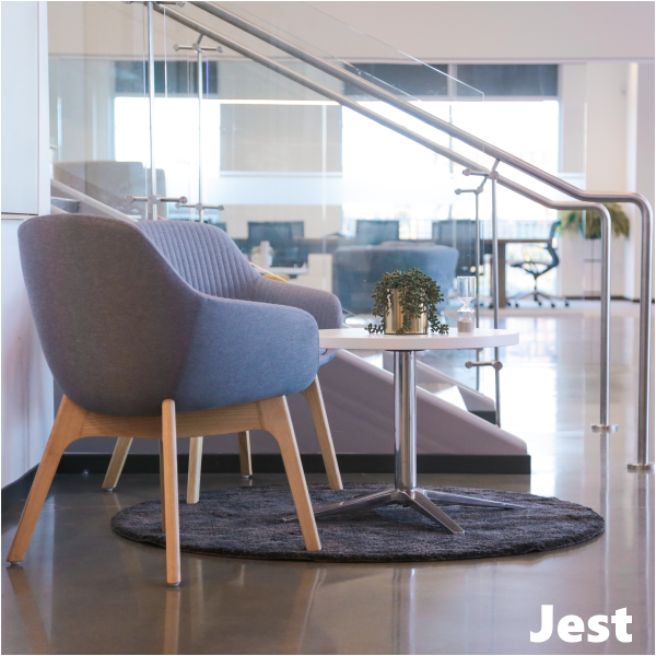 Jest Channel Fabric Wooden Base Guest Chairs