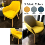 Friant Jest Fabric Rounded Guest Chairs in 3 Colors