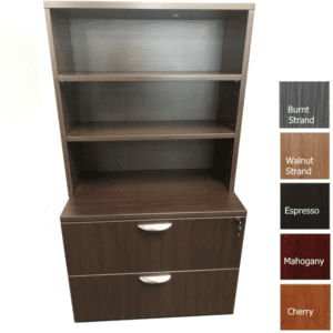 OFD112 Lateral File Cabinet & OFD163 Open Bookcase Hutch