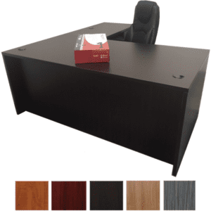 OFD L Shape Desk with Right Return - Espresso