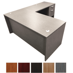 Burnt Strand Finish - L-Shaped Desk - OFD Ultra Series