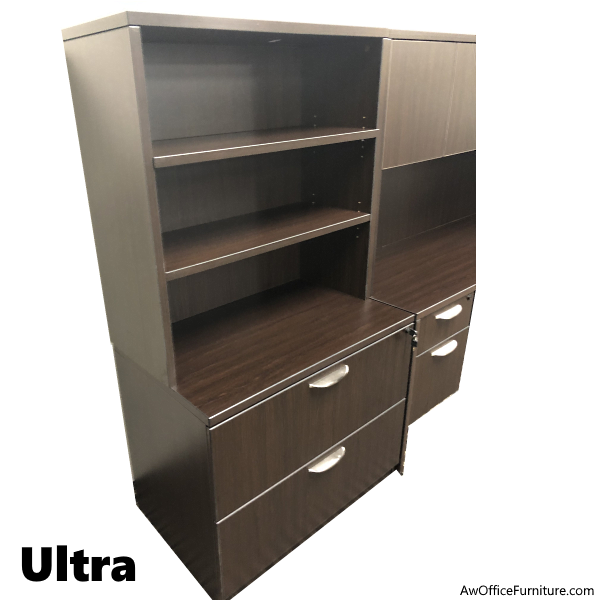 Ultra Series Lateral File & Upper Bookcase Storage
