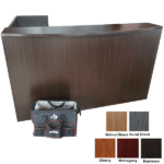 L-Shaped Reception Desk in Espresso from OFD