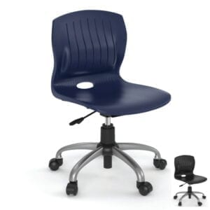 training swivel chair in poly seat and back shell