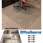 COE Glass Chair Mat in 4 Sizes