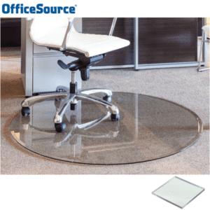 "48"" Round Glass Chair Mat"
