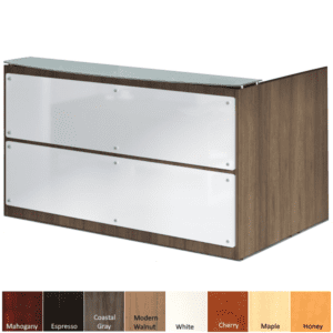 Front Frosted Glass Reception Desk