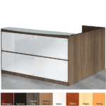 PL Office Source Glass Reception L-Desk