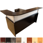 Borders Left Handed Reception Desk with Curved Top