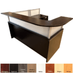 Curved Interior & Curved Surface Reception Desk - Borders Collection