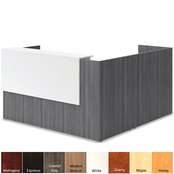 Office Source Reception Desk with Reversible Overlay PL169DELTT