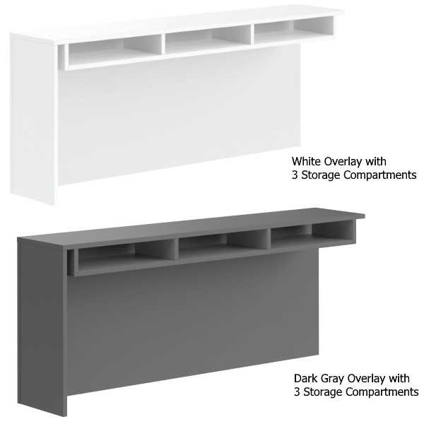 Overlay Counter with Storage Compartments & Nooks