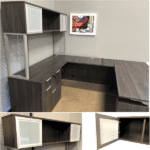 Interior View - COE Office Source Height Adjustable Sit to Stand U Desk Set with Hutch