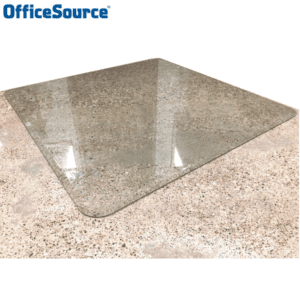 COE Office Source Glass Chair Mat - 4 Sizes
