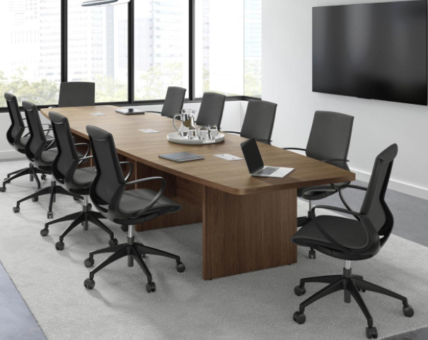 PL 14′ Boat Shaped Conference Table