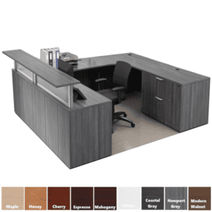 Borders Office Source Reception Desk - U Shaped