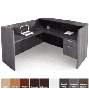 Performance Laminate L-Shaped Reception Desk in 9 Finishes - PL169 PL180