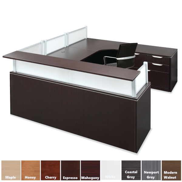 Borders U Shaped Reception Desk with Right Handed Return