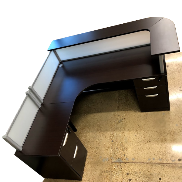 Interior Curved Reception Desk with Curved Top