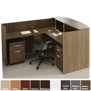 PL Performance Laminate Reception Desk with Mobile storage pedestals PL1007