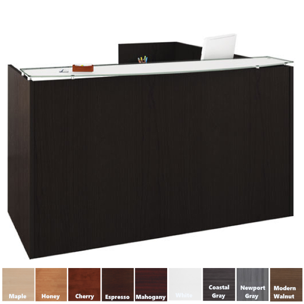 Modern Bowed Counter Reception Desk