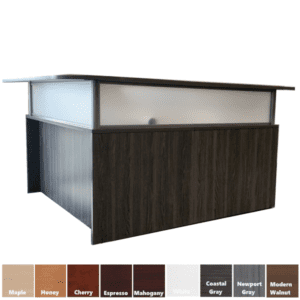 Performance Reception Desk with Recessed Front