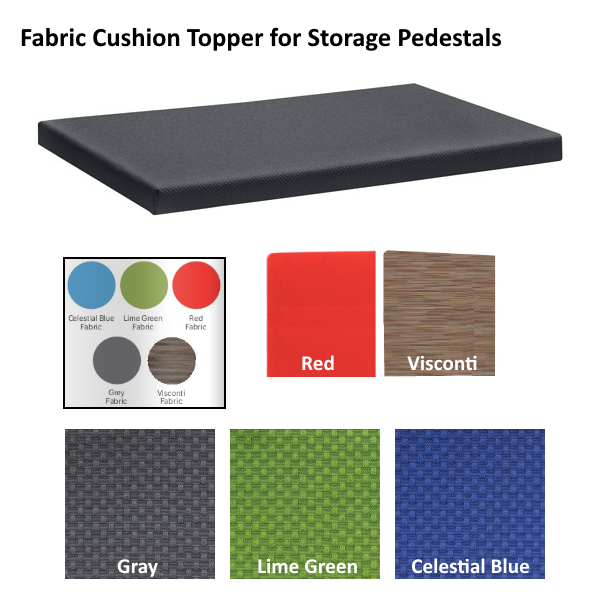 Cushion Toppers for storage pedestals