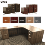 "Ultra Corner Desk - 71"" x 42"" - Storage Pedestal Options"