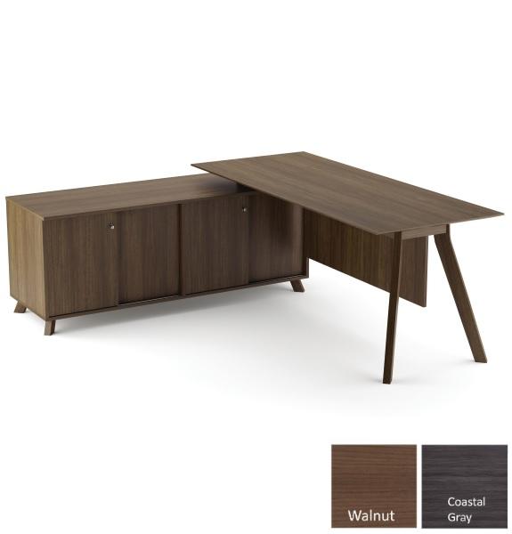 Sienna Benching L-Desk | 4D Door Bench
