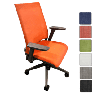 9to5 Seating Luna Task Chair with Mesh Backing