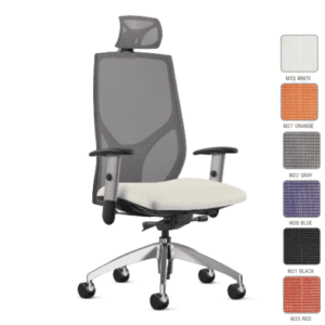 9to5 Vault High Back Mesh Task Chair with Headrest Attachment
