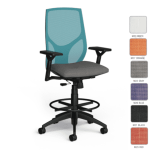 SKU 1468 - 9to5 Task Stool - 8 Mesh Colors
