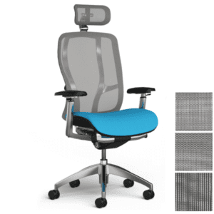 9to5 Seating High Back Mesh Chair with Silver Frame