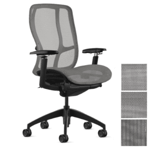 Silver Mesh Task Chair with Black Frame