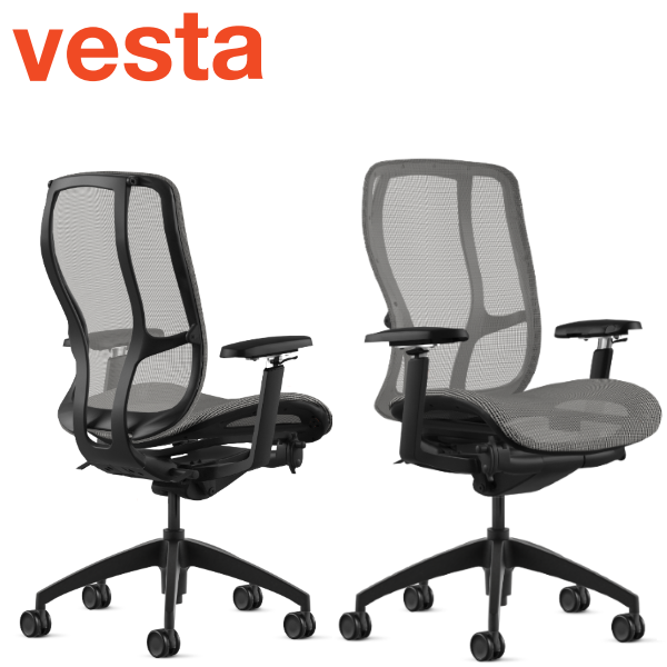 Vesta Chair in Black Frame from 9to5 Seating