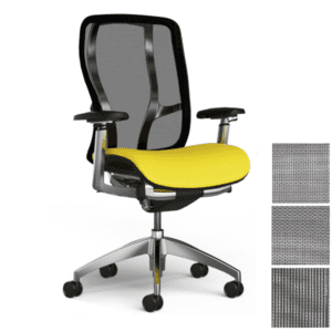 Vesta Task Chair with Polished Steel Base