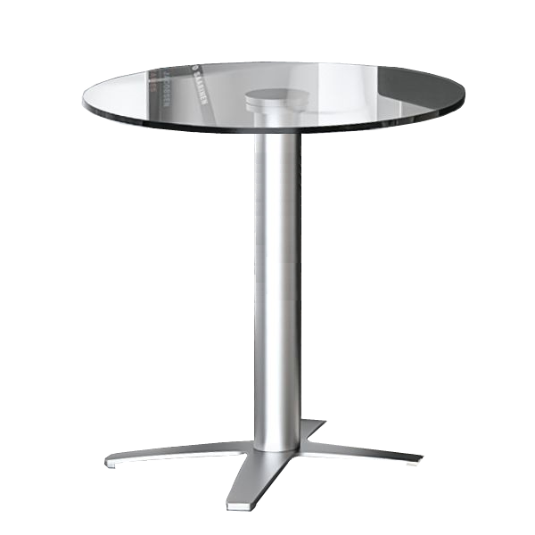 COE Office Source Clear Glass Round Bar Table