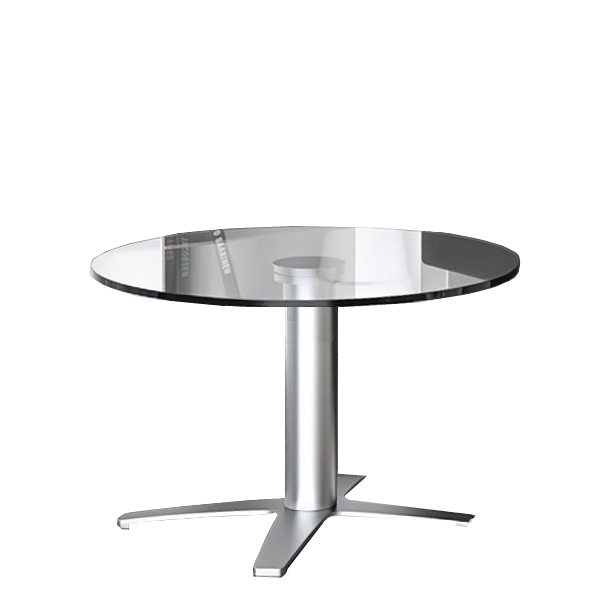 Prong Base Glass Reception Table