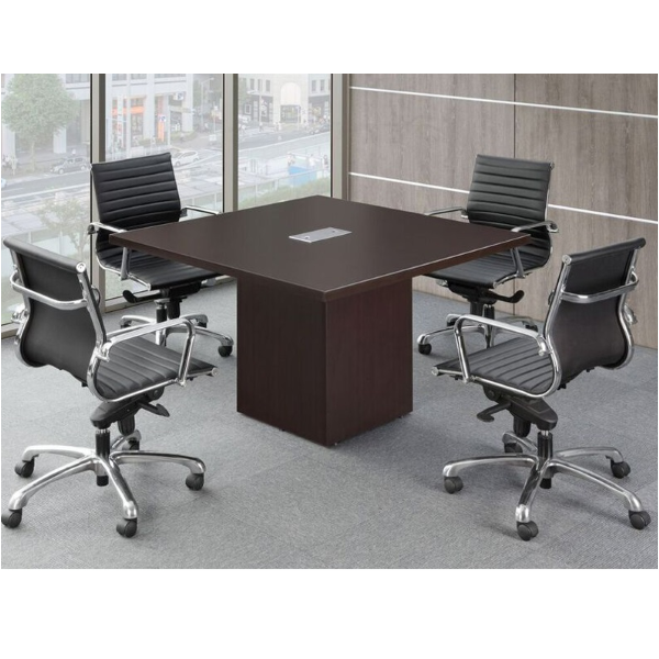 Cube Base Square Powered Conference Table