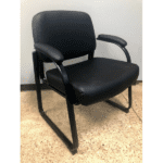 Big and tall guest chair in black vinyl