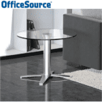 Office Source Reception Occasional Glass Table - Round Top