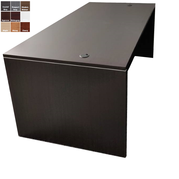 Office Source PL101 Desk in Espresso Finish