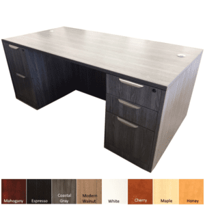 Performance Laminate Executive Desk with Box Box File & File File