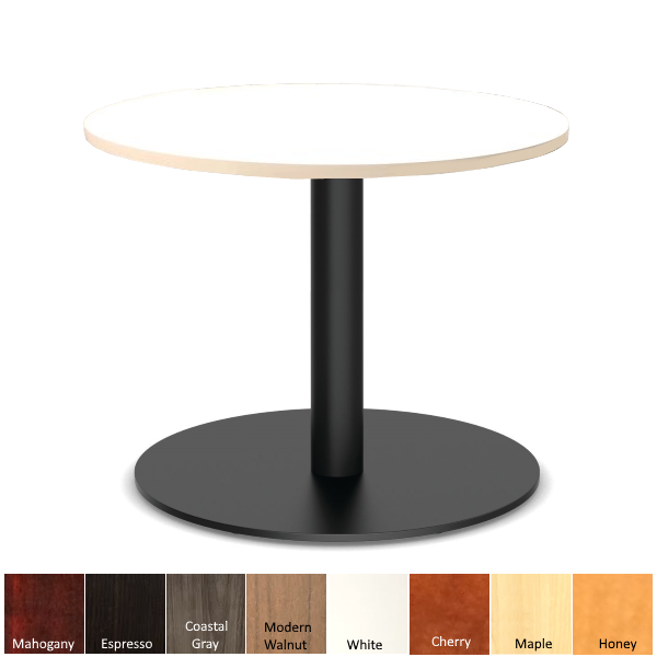 Office Source Black Round Platform Base Table
