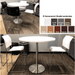 Round High Table - Round Bar Height Table - Break Cafe Table