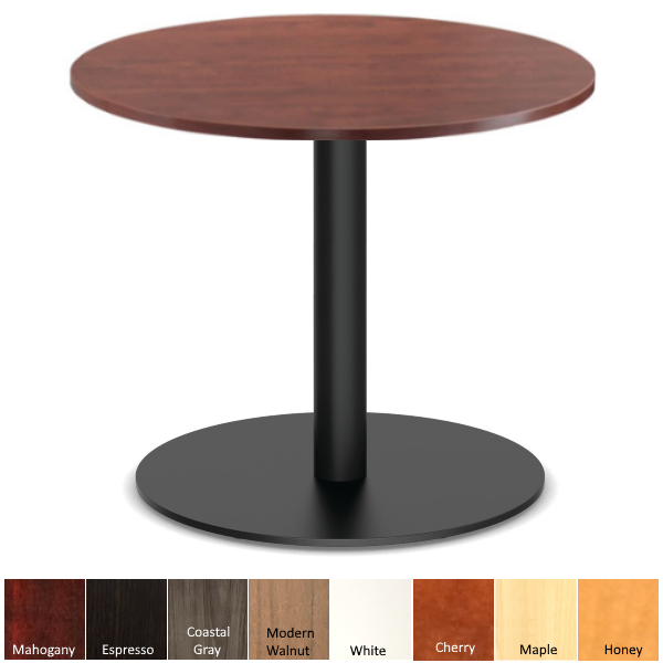 Cherry Round Top Bar Height Cafe Table