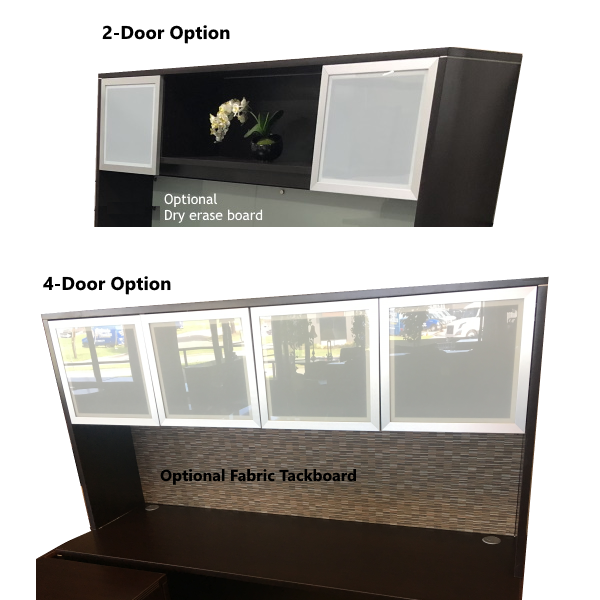 2 & 4 Frosted Glass Door Hutch